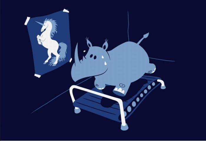 Risultati immagini per ippopotamo unicorno