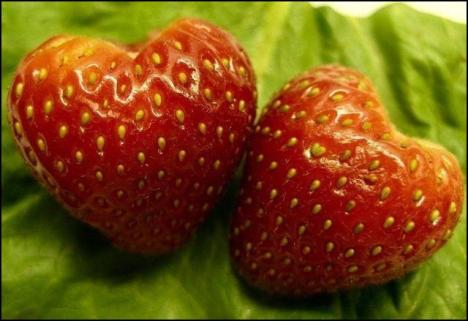 fragole a cuore