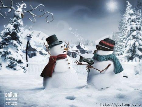 pupazzo di neve cattivo