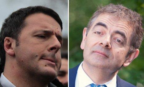 Matteo Renzi e Rowan Atkinson