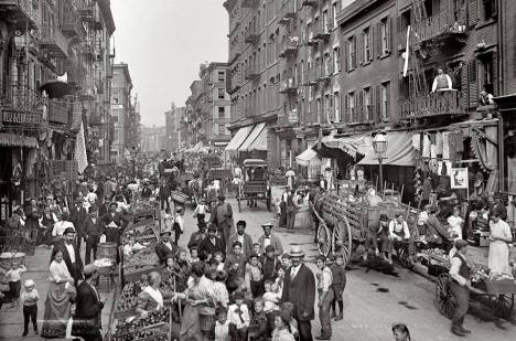 The Italian hub of Lower Manhattan is pictured here in 1900. Its taken on Mulberry Street